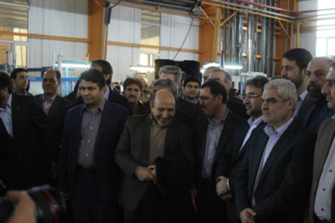 مراسم افتتاحیه خط تولید قطعات سیستم سوخت یورو 6 خودرو در شهرستان ملارد + گزارش تصویری