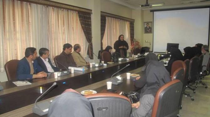 برگزاری جلسه اطلاع رسانی و حساس سازی  سفیران سلامت ادارات شهرستان شهریار در خصوص بسیج ملی تغذیه سالم