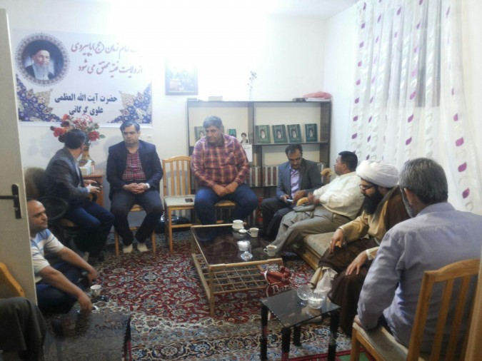 افتتاح دفترمرجع عالیقدرحضرت آیت االله العظمی علوی گرگانی درمحله عباس