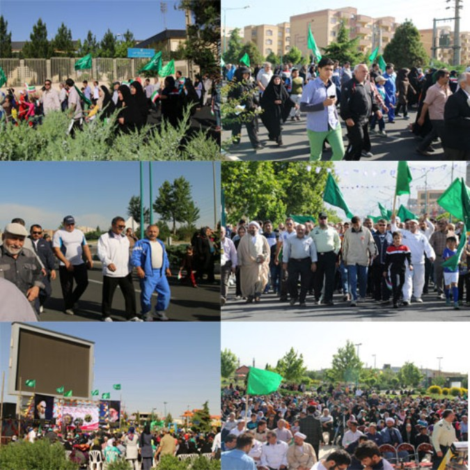 همایش پیاده روی به مناسبت اعیام شعبانیه در شهریار برگزار شد