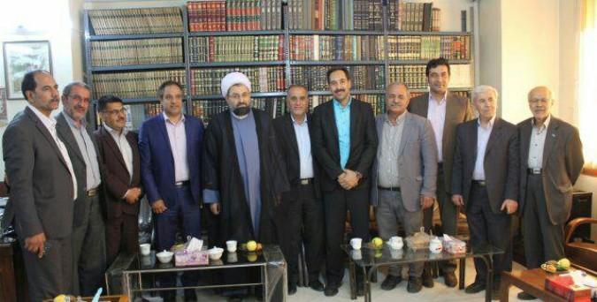 حضور مهندس محمودی در دفتر امام جمعه محترم شهریار