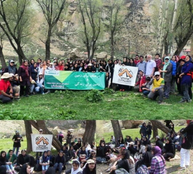 برگزاری همایش کوهپیمایی دانش آموزی توسط گروه کوهنوردی شهریاران