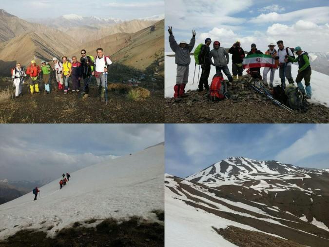 صعود گروه کوهنوردی شهریاران به قله کرچان به مناسبت روز ملی پرندگان مهاجر
