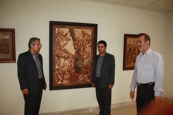 افتتاح نمایشگاه آثار معرق استاداحمد بهجت در باغستان شهریار