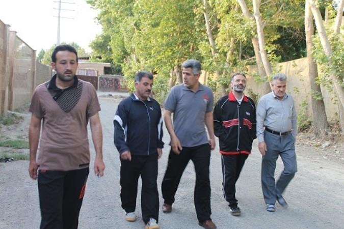 پیاده روی صبحگاهی مسئولین ادارت شهر وحیدیه درشهرستان شهریار