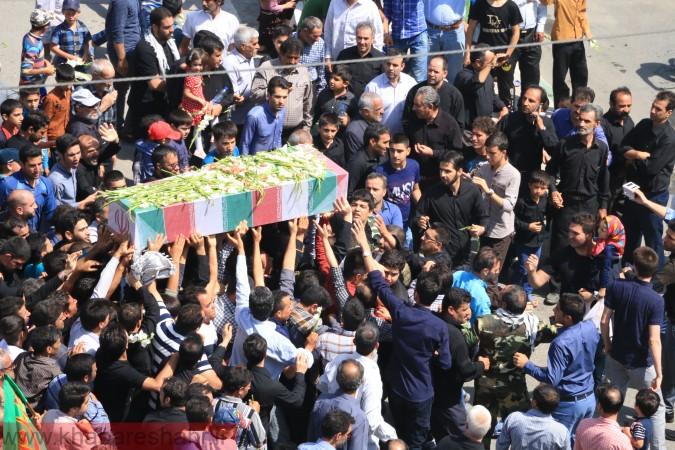 گزارش تصویری از تشییع پیکر 2 شهید گمنام در امیریه