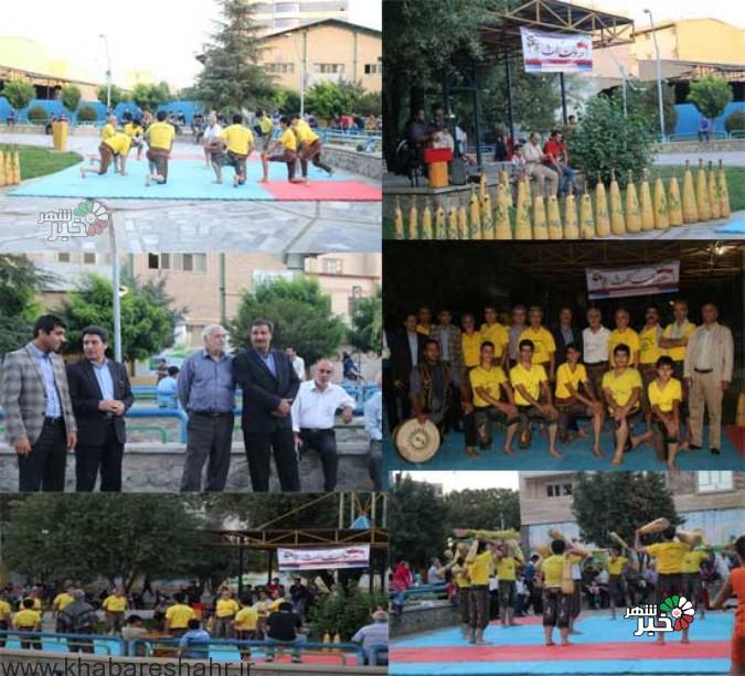 همایش فرهنگ پهلوانی و ورزش زورخانهای در پارک کودک به مناسبت هفته دولت برگزار شد
