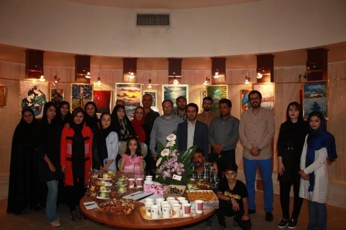 افتتاح نخستین  نمایشگاه آثار نقاشی هنرمندنقاش فرشته جوکار در شهریار