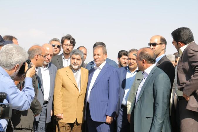 تصفیه خانه بزرگ شهرستان شهریار با حضور معاون اول رئیس جمهور افتتاح شد + گزارش تصویری