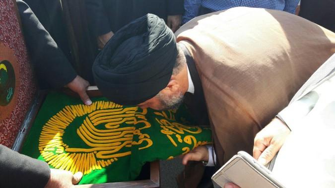 مراسم استقبال از پرچم و خادمین حرم مطهر امام رضا (ع) شهرستان ملارد