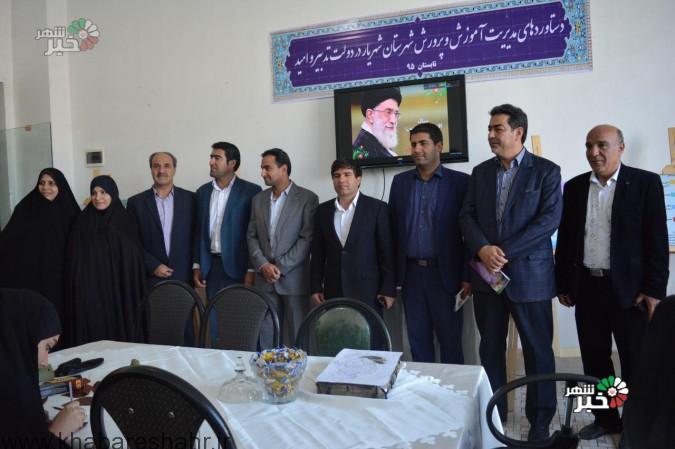 بازدید مدیر آموزش و پرورش شهریار از نمایشگاه دستاورد های دولت تدبیر و امید