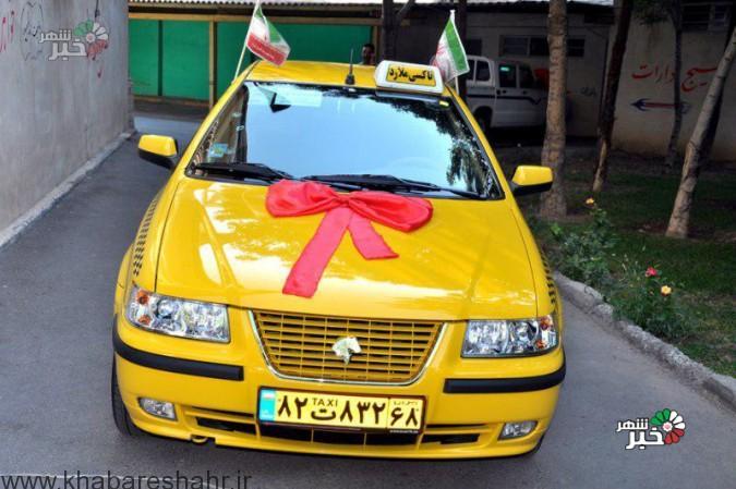 رونمایی ازطرح نوسازی تاکسیهای فرسوده ناوگان تاکسیرانی شهرداری شهرستان ملاردبه مناسبت هفته دولت