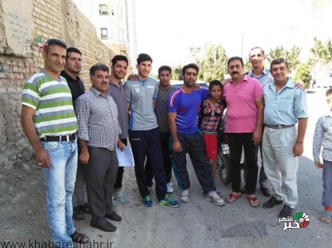 برگزاری مسابقه دوی 100 متر در وحیدیه شهریار