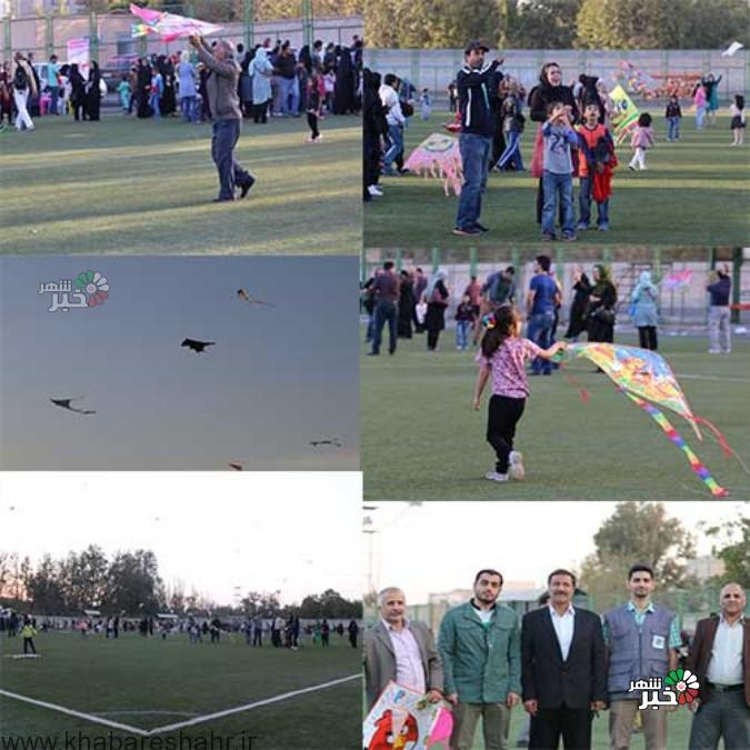 جشنواره بادبادکها به مناسبت هفته تربیت بدنی و ورزش در شهریار برگزار شد