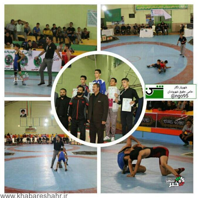 شهریار قهرمان نهمین دوره رقابت های کشتی جام شهید کلهر شهرستان شهریار