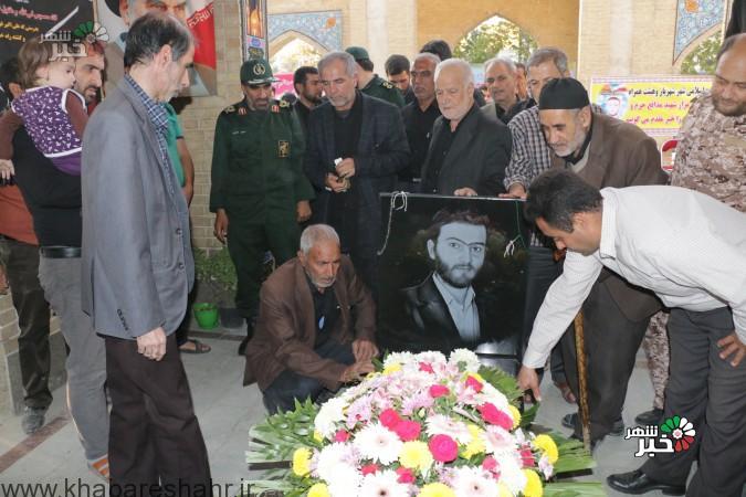 رونمایی از  سنگ مزار  شهید مدافع حرم ( شهید آبیاری )