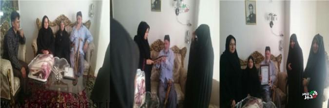 دیدار اعضاءکانون بسیج جامعه پزشکی شهریار از خانواده شهید حمید جوجلو شهر فردوسیه در هفته دفاع مقدس