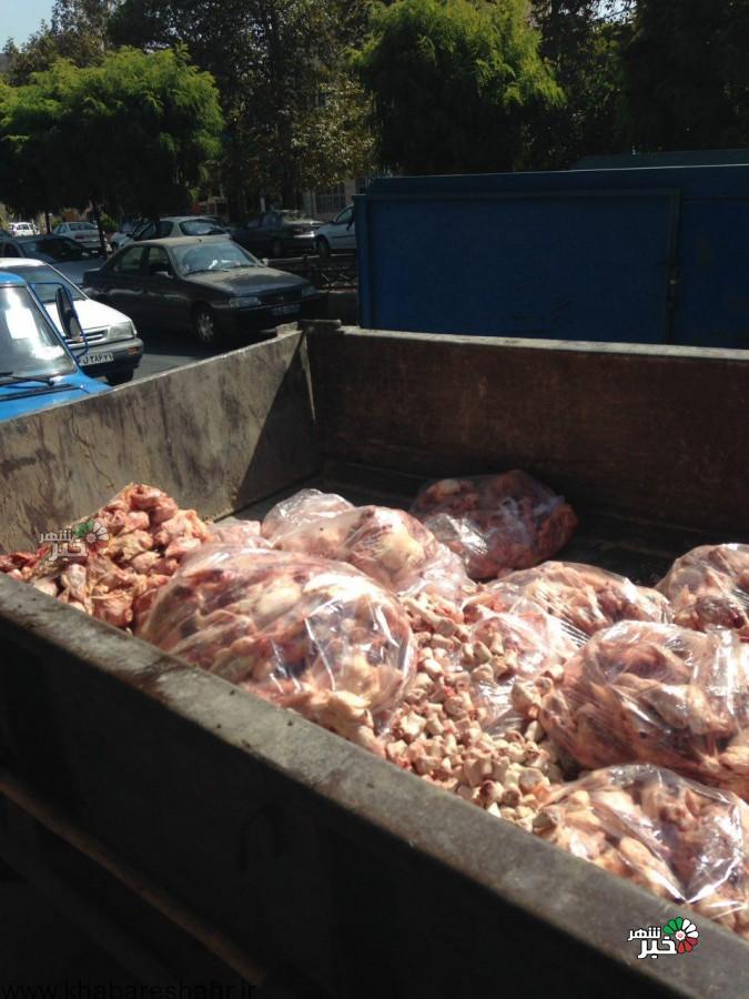 معدوم نمودن گوشت ومرغ غیربهداشتی وغیرقابل مصرف برای انسان