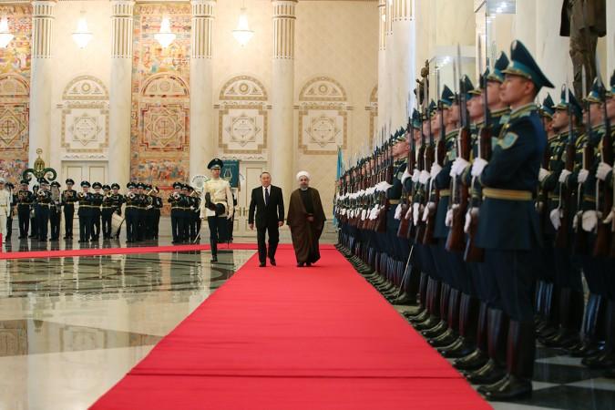 استقبال رسمی رییس جمهوری قزاقستان از دکتر روحانی