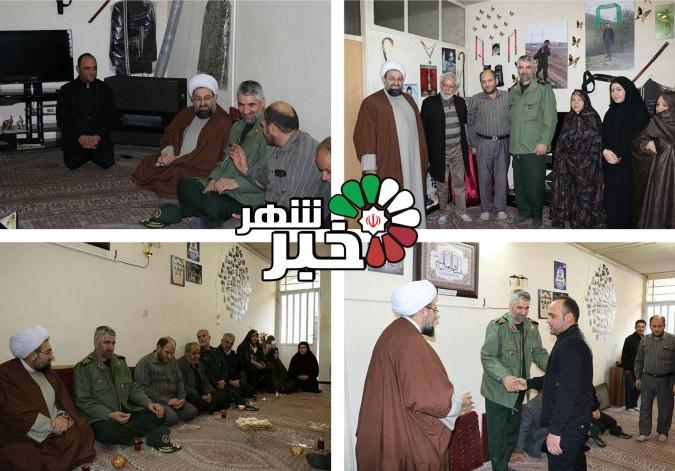 امام جمعه محترم شهرستان شهریار وسردار فضلی با خانواده شهید مدافع حرم عباس آبیاری دیدار نمودند