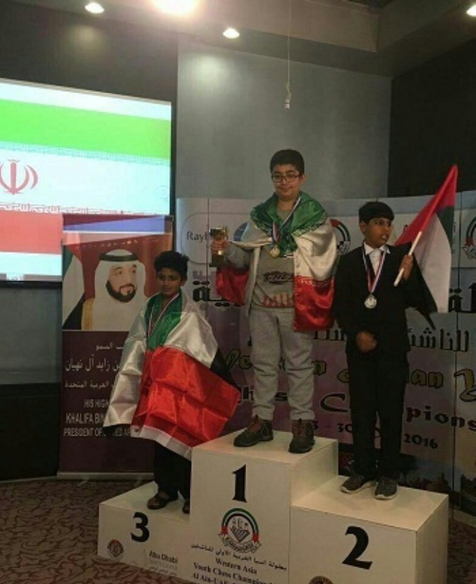 کسب سه مدال طلاتوسط دانش آموز شهریاری در مسابقات قهرمانی شطرنج غرب آسیا