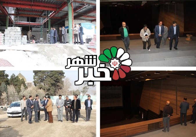 بازدید از پروژه های عمرانی در دست افتتاح