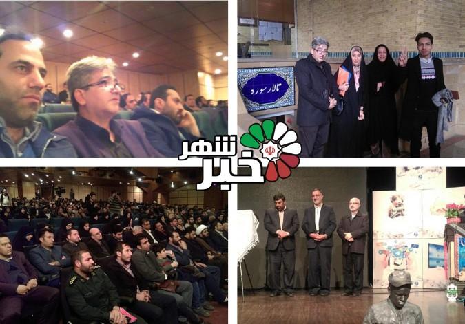 حضور اعضای بسیج رسانه شهرستان قدس در همایش روز بسیج رسانه