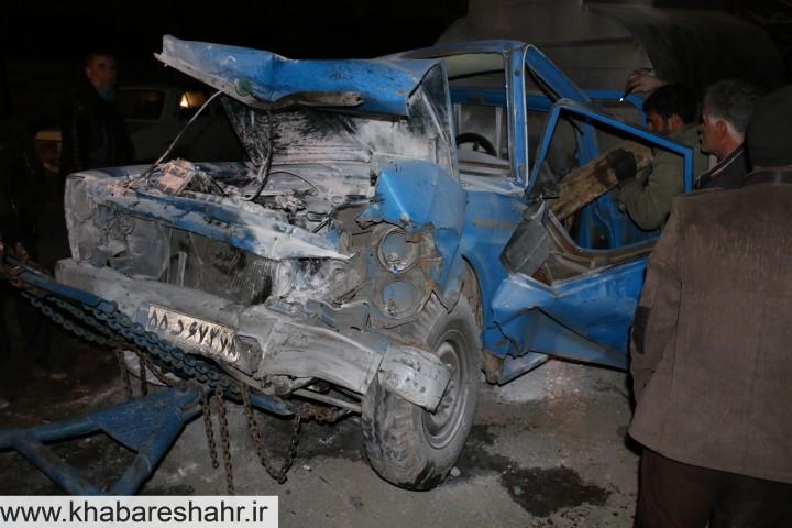 جاده مرگ در شهریار ( رزکان ) باز هم قربانی گرفت + فیلم