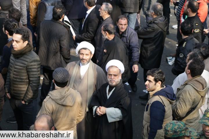 حضور پر رنگ مردم ومسئولین شهرستان شهریار و ملارد در مراسم تشییع آیتالله رفسنجانی