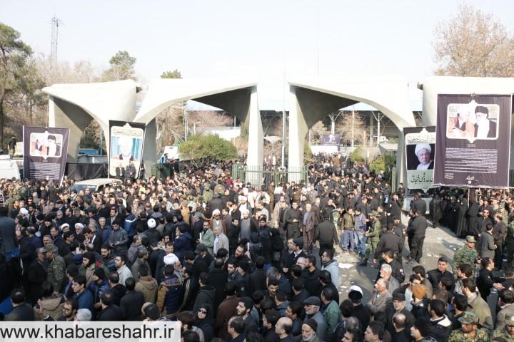 گزارش تصویری از  مراسم تشییع آیتالله رفسنجانی