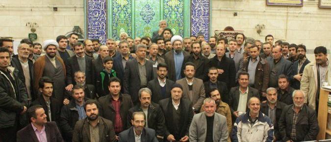 جلسه هیئت الذاکرین کانون مداحان شهریار باحضور امام جمعه محترم شهریار