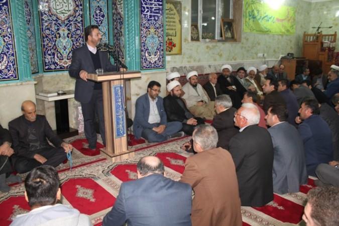سخنرانی فرماندار شهرستان قدس در مراسم دهه فجر