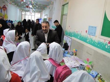 به مناسبت دهه ی مبارک فجر نمایشگاه فجر و سلامت در مدارس شهرستان قدس برگزار شد