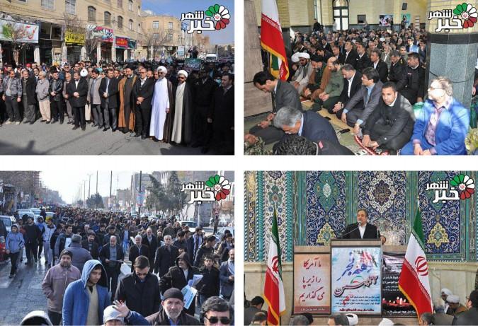 حضور پرشور مردم ولایتمدار و شهیدپرور شهرستان ملارد در۲۲بهمن روز پیروزی انقلاب اسلامی