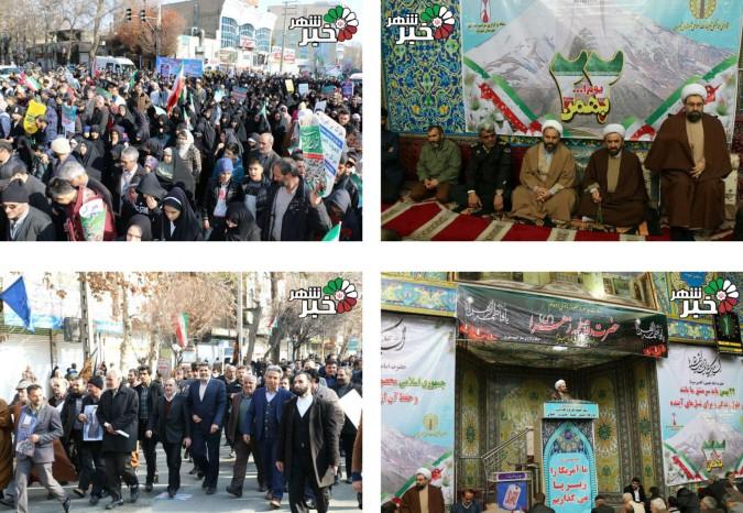 حضور پرشور مردم شهیدپرور شهریار در راهپیمایی یوم الله 22 بهمن 95