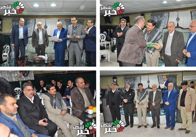 مراسم تودیع ومعارفه رئیس اداره صنعت.معدن وتجارت شهرستان ملارد+ عکس