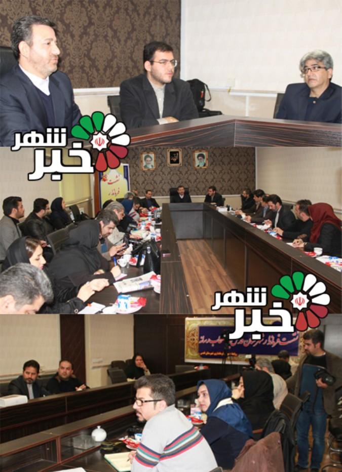 نشست مطبوعاتی فرماندار شهرستان قدس با اصحاب رسانه