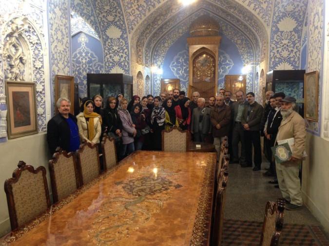 افتتاح نمایشگاه آثار تذهیب استاد داور پروین هنرمند شهرستان شهریار در موزه هنرهای ملی ایران