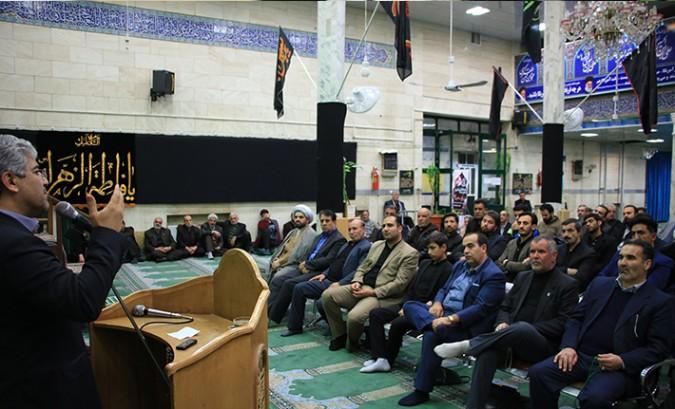 مراسم شهادت حضرت فاطمه (س) در مسجد حضرت قائم(عج) شهریار برگزار شد