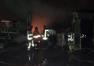 اطفاء حریق مخزن 18هزار لیتری روغن در شهر قدس