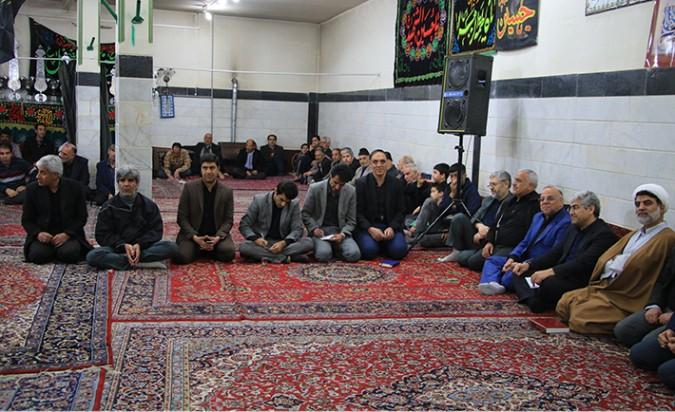 حضور فرماندار شهریار در جمع عزاداران دخت مکرم رسول اکرم(ص)