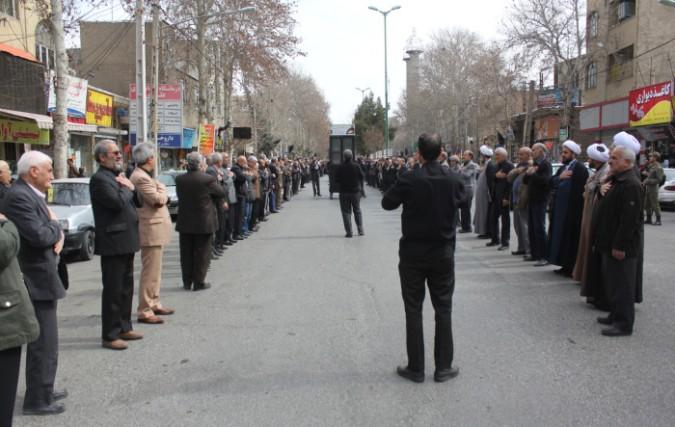 تجمع بزرگ عزاداران فاطمی شهرستان شهریار
