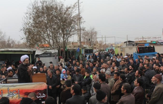 تجمع بزرگ عزاداران فاطمی شهر امیریه با حضور امام جمعه محترم شهریار