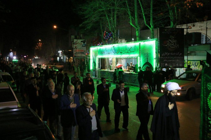مراسم عزاداری  به مناسبت شب شهادت بانوی دوعالم صدیقه کبری (س) درمحله عباس آباد