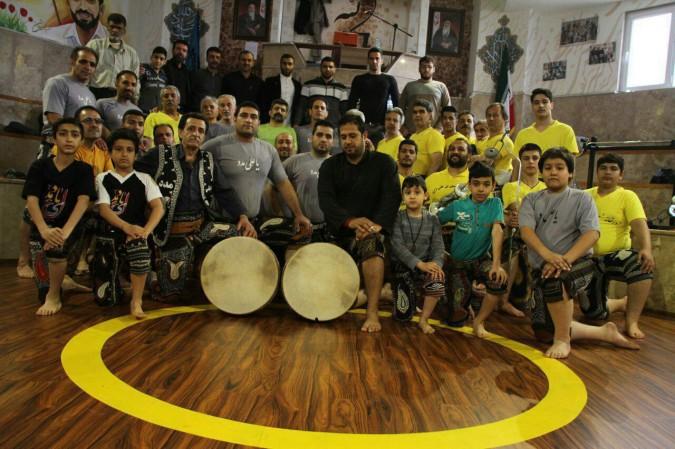 حضور ورزشکاران شهریار در زورخانه شهدای هسته ای شهرستان پردیس