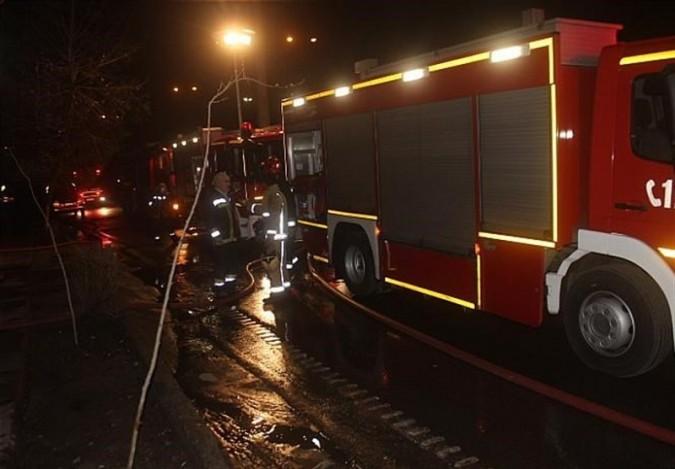 اطفاء حریق آتشسوزی محل سوخت LPG در شهریار