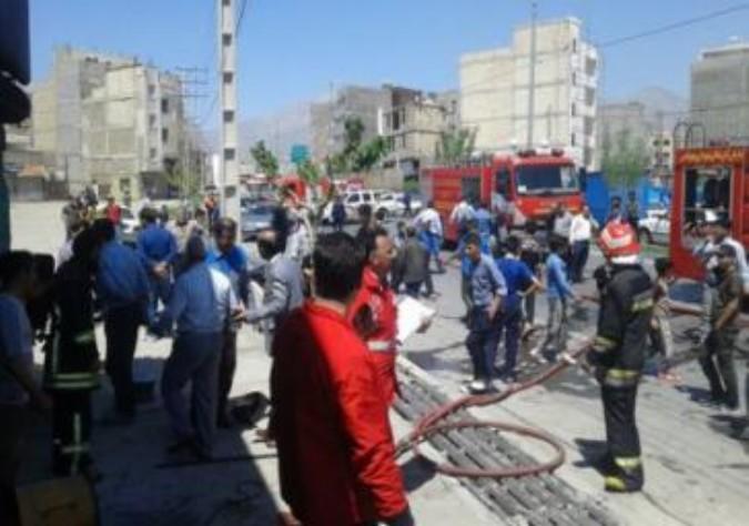 حادثه آتش سوزی بزرگ در شهر قدس