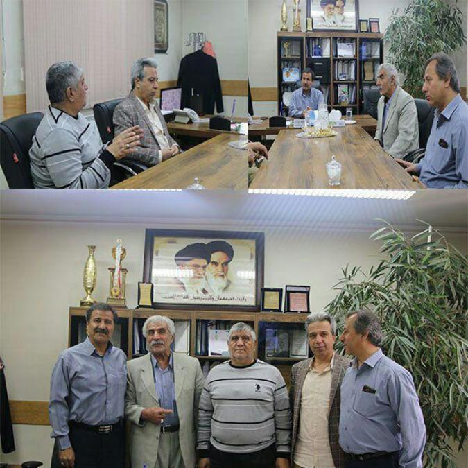 دیدار نوروزی حاج عزیزالله ممقانی با رئیس اداره ورزش و جوانان شهریار