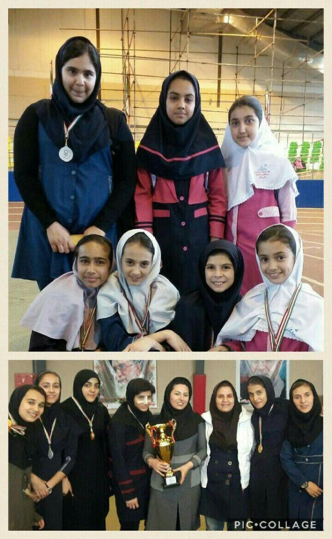 کسب رتبه نخست دختران دومیدانی کار شهریار در استان