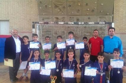 کسب رتبه دوم در مسابقات فوتسال آموزشگاه های پسران شهرستانها تهران